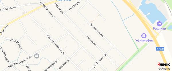 Новая улица на карте Ханской станицы с номерами домов