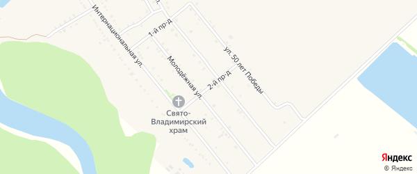 2-й проезд на карте Ханской станицы с номерами домов