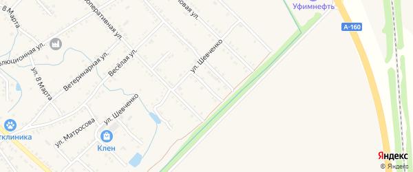 Кооперативный переулок на карте Ханской станицы с номерами домов
