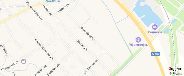 Вишневая улица на карте Ханской станицы с номерами домов