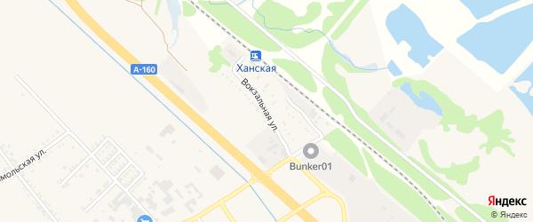 Вокзальная улица на карте Ханской станицы с номерами домов