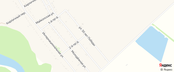 Улица 50 лет Победы на карте Ханской станицы с номерами домов