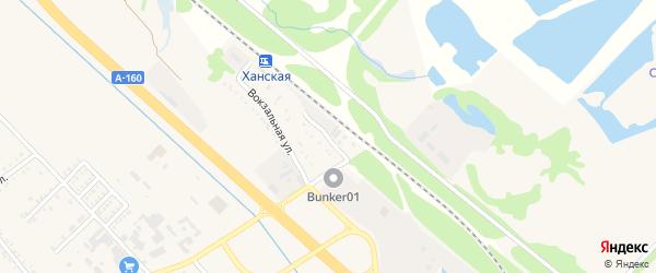 Железнодорожная улица на карте Ханской станицы с номерами домов