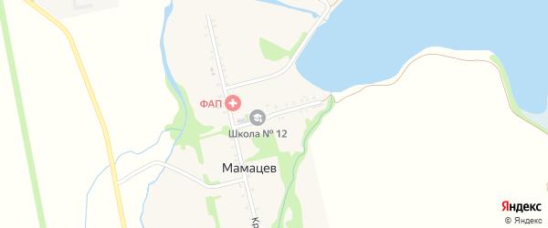 Школьный переулок на карте хутора Мамацева с номерами домов