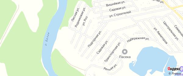 Малиновая улица на карте садового некоммерческого товарищества Красноречья с номерами домов