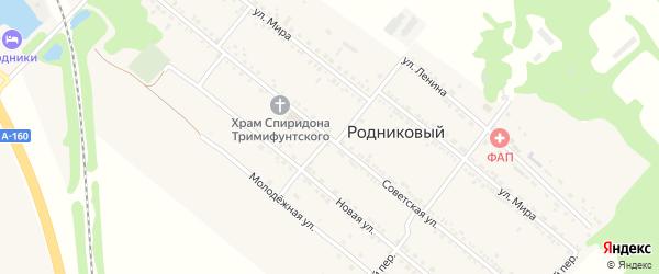 Советская улица на карте Родникового поселка с номерами домов