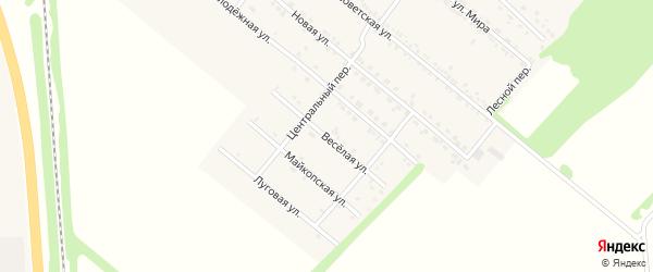 Веселая улица на карте Родникового поселка с номерами домов