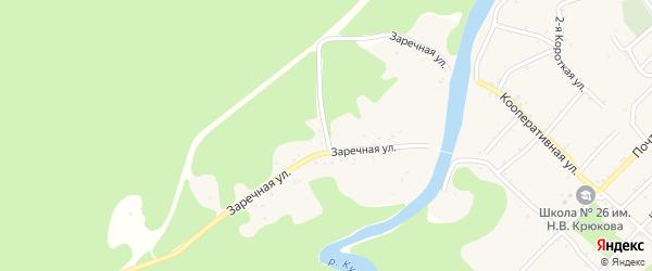 Заречная улица на карте Дагестанской станицы с номерами домов