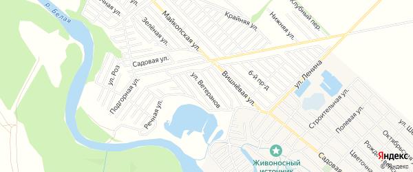 Карта садового некоммерческого товарищества Селекционера города Майкопа в Адыгее с улицами и номерами домов
