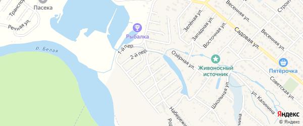 Озерный переулок на карте Майкопа с номерами домов