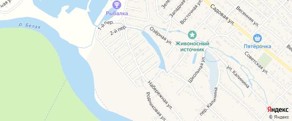 Земляничная улица на карте Озерного садового некоммерческого товарищества с номерами домов