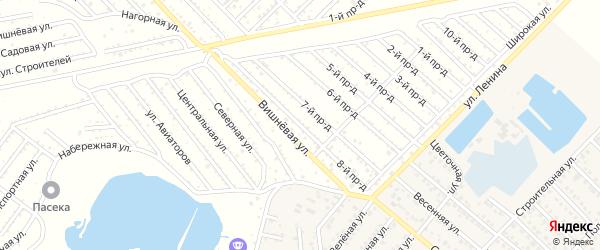 8-й проезд на карте садового некоммерческого товарищества Буровика с номерами домов