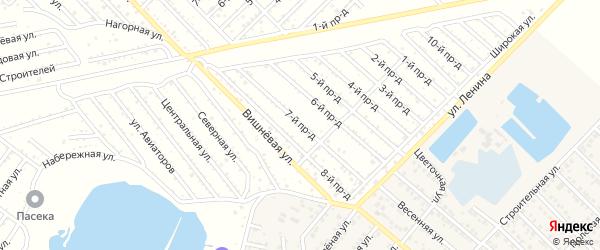 7-й проезд на карте садового некоммерческого товарищества Буровика с номерами домов