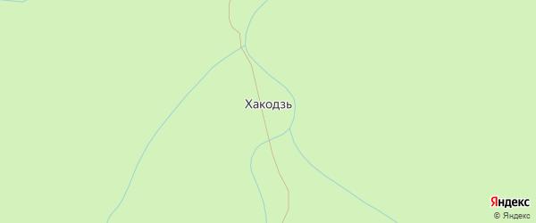 Широкая улица на карте поселка Хакодзи с номерами домов