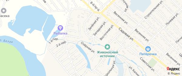 Южный переулок на карте Гавердовского хутора с номерами домов