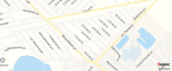 6-й проезд на карте садового некоммерческого товарищества Буровика с номерами домов