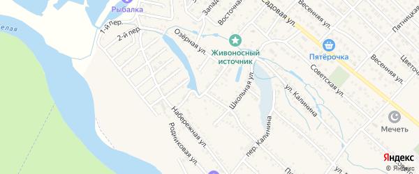 Апрельская улица на карте Гавердовского хутора с номерами домов