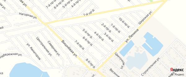 5-й проезд на карте садового некоммерческого товарищества Буровика с номерами домов