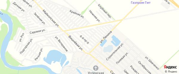 Карта садового некоммерческого товарищества Буровика города Майкопа в Адыгее с улицами и номерами домов