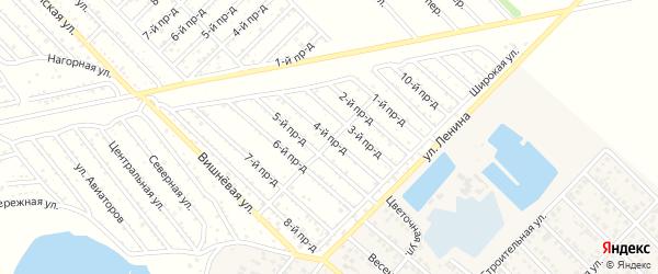 4-й проезд на карте садового некоммерческого товарищества Буровика с номерами домов