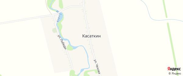 Дорога А/Д Подъезд к х. Касаткин на карте хутора Касаткина с номерами домов