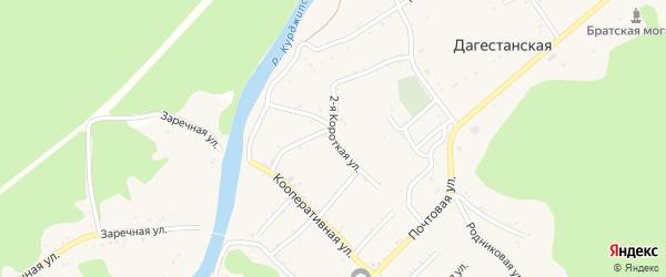 Короткая 1-я улица на карте Дагестанской станицы с номерами домов