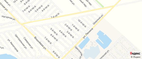 2-й проезд на карте садового некоммерческого товарищества Буровика с номерами домов