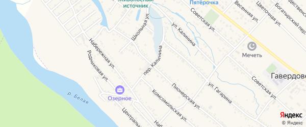 Переулок Калинина на карте Гавердовского хутора с номерами домов
