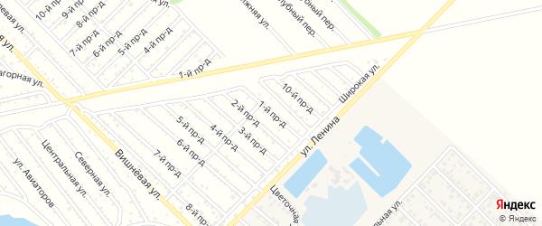 1-й проезд на карте садового некоммерческого товарищества Буровика с номерами домов
