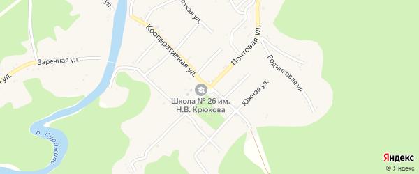 Почтовая улица на карте Дагестанской станицы с номерами домов