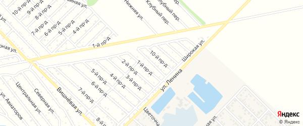 9-й проезд на карте садового некоммерческого товарищества Буровика с номерами домов
