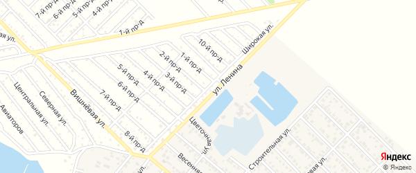 Широкая улица на карте садового некоммерческого товарищества Буровика с номерами домов
