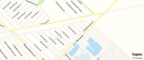 10-й проезд на карте садового некоммерческого товарищества Буровика с номерами домов
