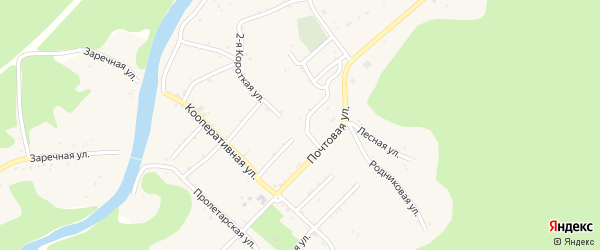 Школьная улица на карте Дагестанской станицы с номерами домов