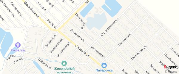 Васильковая улица на карте садового некоммерческого товарищества Восхода с номерами домов