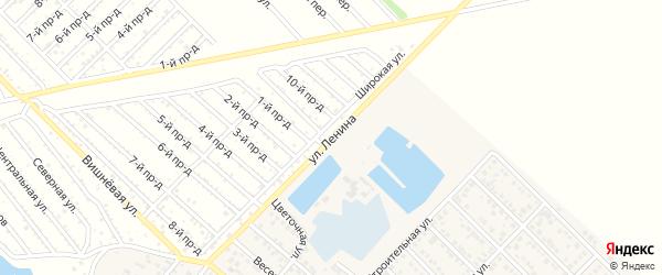 Улица Ленина на карте Гавердовского хутора с номерами домов