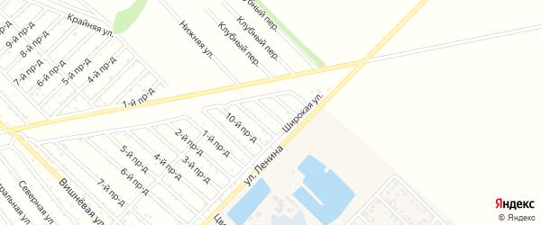 12-й проезд на карте садового некоммерческого товарищества Буровика с номерами домов