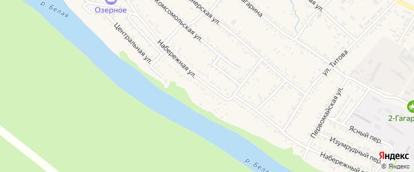 Набережная улица на карте Гавердовского хутора с номерами домов