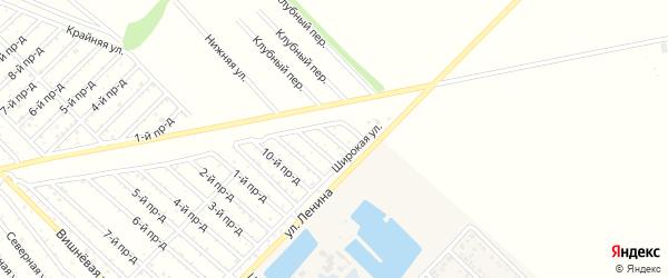 13-й проезд на карте садового некоммерческого товарищества Буровика с номерами домов