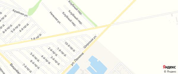 14-й проезд на карте садового некоммерческого товарищества Буровика с номерами домов
