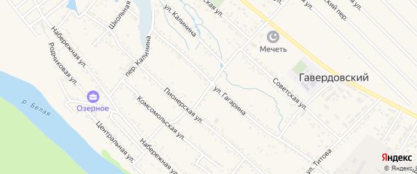 Центральный переулок на карте Гавердовского хутора с номерами домов