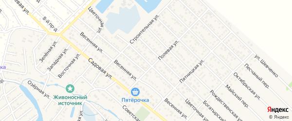 Цветочная улица на карте Гавердовского хутора с номерами домов