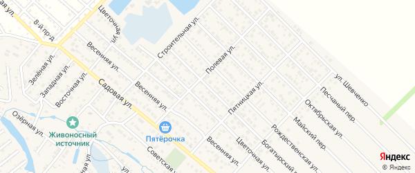 Богатырский переулок на карте Гавердовского хутора с номерами домов