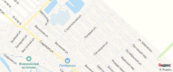 Полевая улица на карте Гавердовского хутора с номерами домов