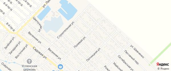 Майский переулок на карте Гавердовского хутора с номерами домов