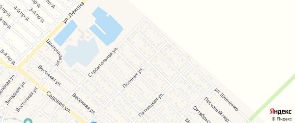 Октябрьская улица на карте Гавердовского хутора с номерами домов