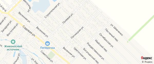 Пятницкая улица на карте Гавердовского хутора с номерами домов