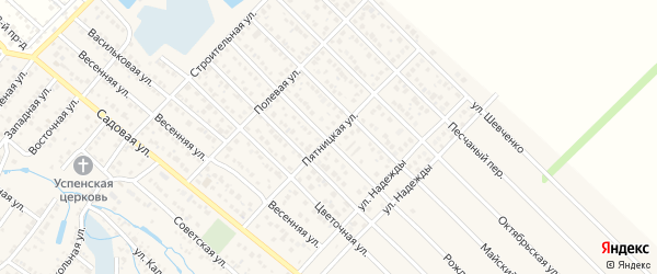 Пятницкая улица на карте Майкопа с номерами домов