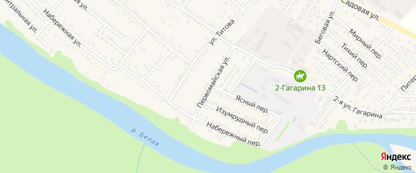 Первомайская улица на карте Гавердовского хутора с номерами домов