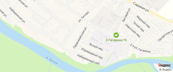 Первомайский переулок на карте Гавердовского хутора с номерами домов